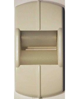 Guide sangle fixation verticale blanc pour sangle de 15mm