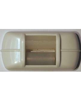 Guide sangle fixation horizontale blanc pour sangle de 15mm