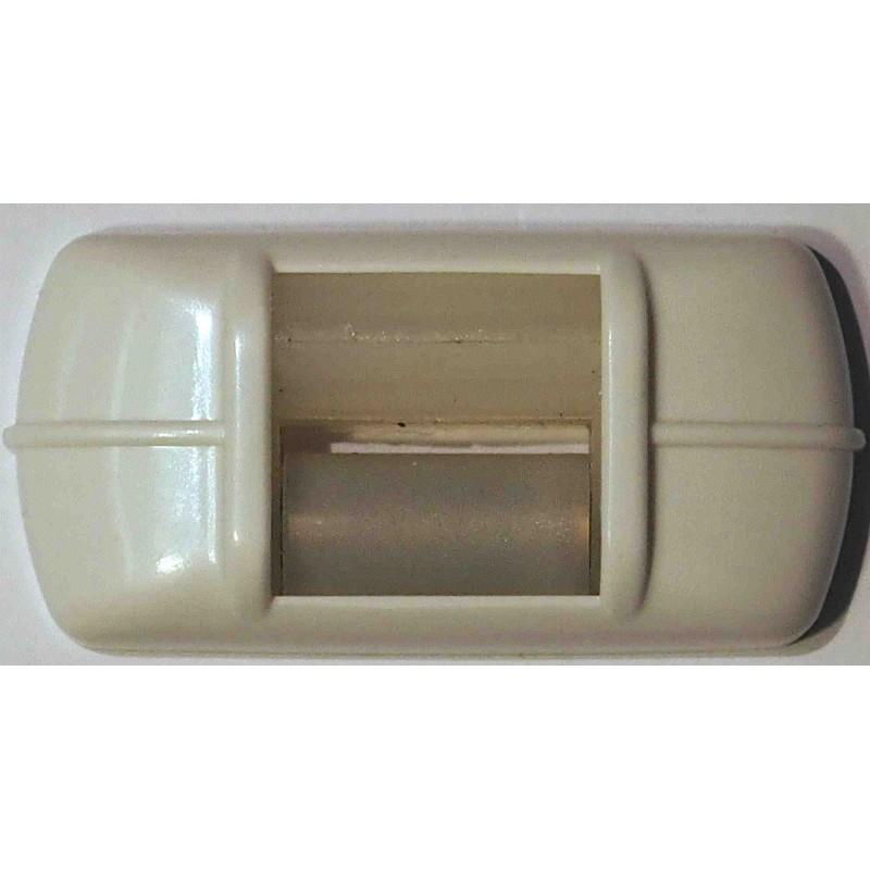 Guide sangle fixation horizontale blanc pour sangle de - Fixation volet roulant ...