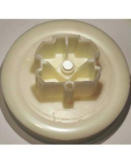 Poulie à embout pour sangle de 17 mm et tube ZF 64 Ø exterieur 123mm