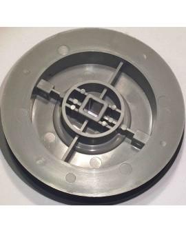 Poulie pour sangle 15mm Ø 125mm/ carré 10mm