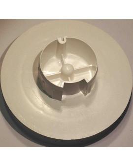 Poulie pour tube Deprat 62 Ø poulie 140mm/ téton Ø 8mm et sangle de 20 mm