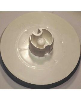 Poulie pour tube Deprat 40 et sangle de 17mm Ø 130mm/ teton Ø 8mm