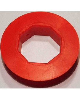 Poulie PVC rouge Ø 80mm pour tube octo 40 et sangle de 15mm