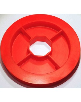 Poulie PVC rouge Ø 150mm pour tube octo 40 et sangle de 15mm