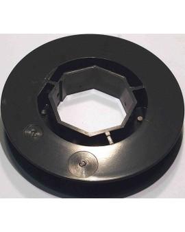 Poulie PVC pour tube octo 40 ∅ 100(pour embout 252600,coussinet nylon B106)
