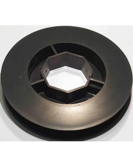 Poulie PVC pour tube octo 40 ∅ 120 (pour embout 252600,coussinet nylon B106)