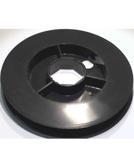 Poulie PVC pour tube octo 40 ∅ 160mm (pour embout 252600,coussinet nylon B106)