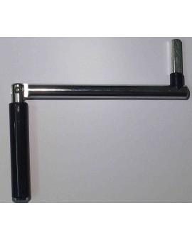 Manivelle en acier nickelé pour treuil 2001671 et 203503 noir