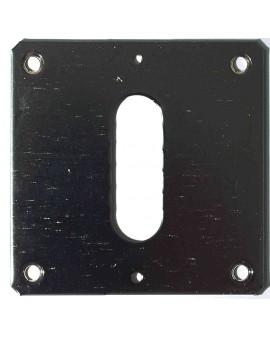 Plaque de fixation large nickelée (pour double cardan) 85x80