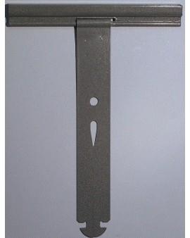 Attache tablier à clipper pour tube octo 40 et 60 pour lames épaisseur 8mm