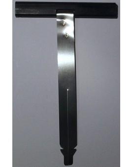 Attache tablier à clipper pour tube octo 40 Deprat pour lames épaisseur 8mm