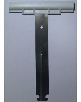 Attache tablier à clipper pour tube octo pour lames épaisseur 14mm