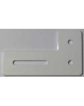 Équerre de projection en aluminium laqué blanc