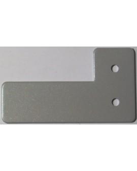 Arrêt aux coulisses en aluminium laqué gris