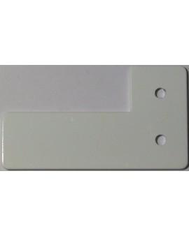 Arrêt aux coulisses en aluminium laqué blanc