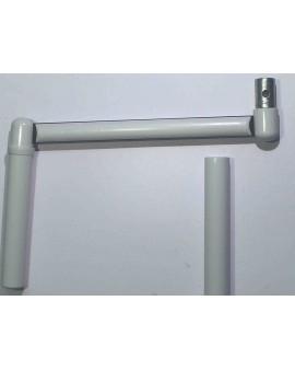 Poignée de manivelle profil pour tube Ø12 gris