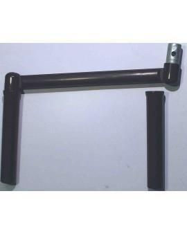 Poignée manivelle profil pour tube Ø12 marron