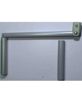 Poignée de manivelle pour tube 6 Pans 10 gris