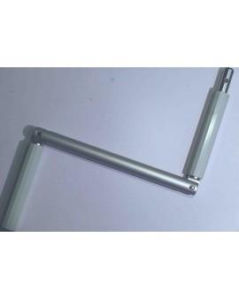 Poignée de manivelle en aluminium grise pour manivelle ∅ 13