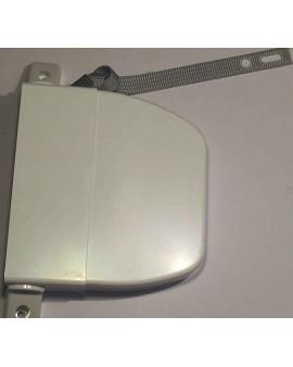 Enrouleur pivotant blanc avec sangle 12mm L 4.75m