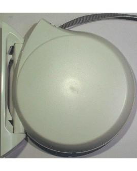 Enrouleur conviv pivotant blanc avec sangle 14mm L 5.00m