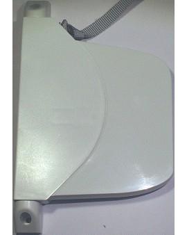 Enrouleur OPEN CARRE blanc avec sangle 12mm L 4.75m
