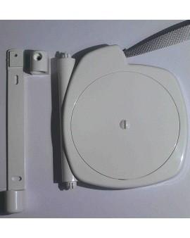 Enrouleur sous carter blanc avec sangle 14mm L 5.8m
