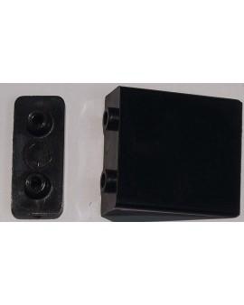 Butée plate noire avec contre plaque pour lame finale ( la paire)
