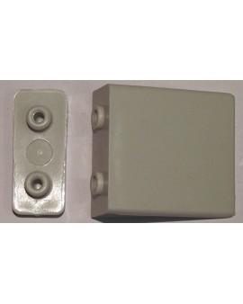 Butée plate grise avec contre plaque pour lame finale ( la paire)