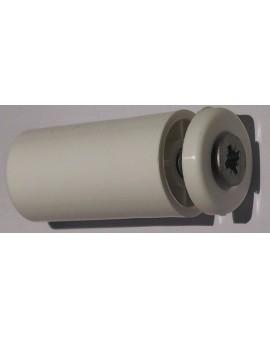 Butée en linteau ronde avec rondelle et vis Longueur 40 (la paire) blanc