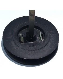 Poulie BUBENDORFF Ø 92mm pour sangle 12 mm avec carré 8 Démontable