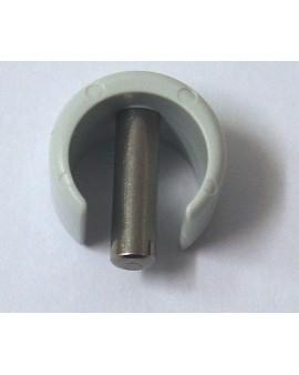 Clip de fixation rapide pour tube Ø 13 extérieur gris