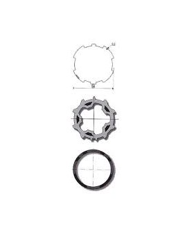 ROUE + COURONNE SOMFY ZF54