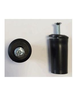 Butée ronde noire L40 (la paire)