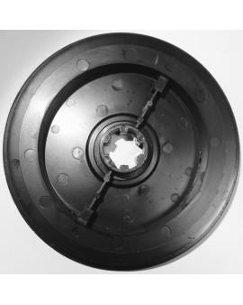 Poulie à crabot Ø 170mm pour sangle 15 mm et moyeu crabot ZF