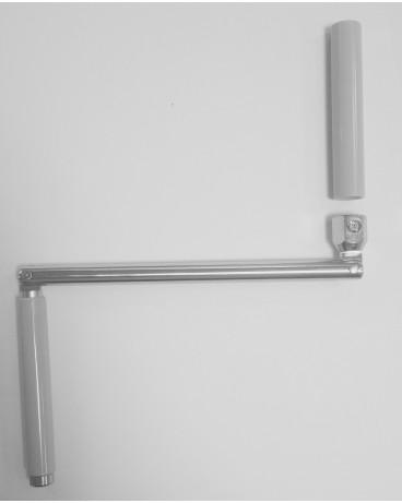 Poignée acier pour manivelle Ø12 gris