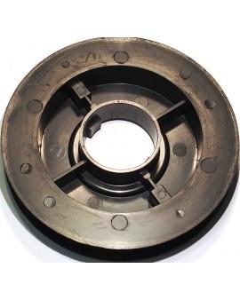 Poulie clippable Ø 125mm pour sangle 15 mm et sur embouts escamotables pour tubes ZF45-54-64 et Octo 40-60