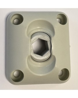 Guide à rotule plaque 45x50 6p10 gris