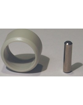 Manchon de fixation pour tube Ø 15 extérieur gris avec goupille inox