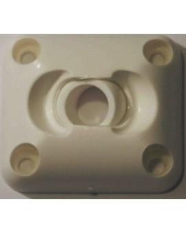 Guide à rotule plaque 45x50 Ø12 blanc