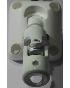 Bloc guide genouillère 40x50 avec tringle d'attaque en 6 pans 7 blanc