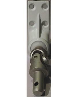 Sortie 45° plaque métallique 22x59 Tourillon métallique 9.9 Livré avec tringle d'attaque 6 Pans 7
