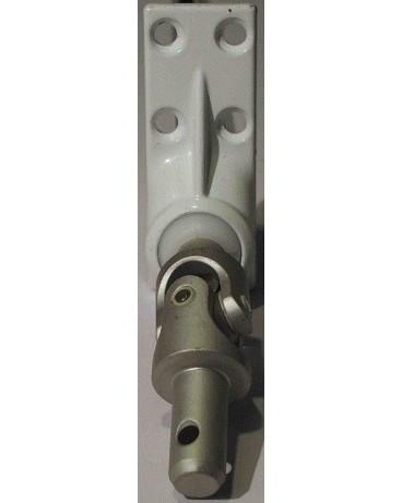 Sortie 45° plaque blanche pour manivelle Ø13/ tige 6 Pans 7 L330mm