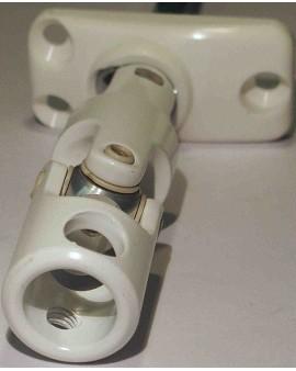 Mini bloc guide déporté blanc Ø12/ tige carré 6 L 160mm