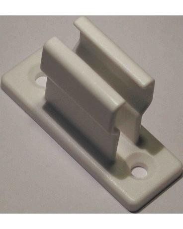 Bloqueur en plastique 50x18 H 35mm blanc