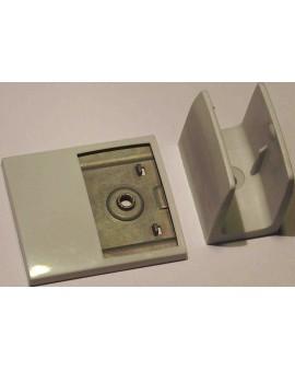 Bloqueur de manivelle clip+plaquette déport gris